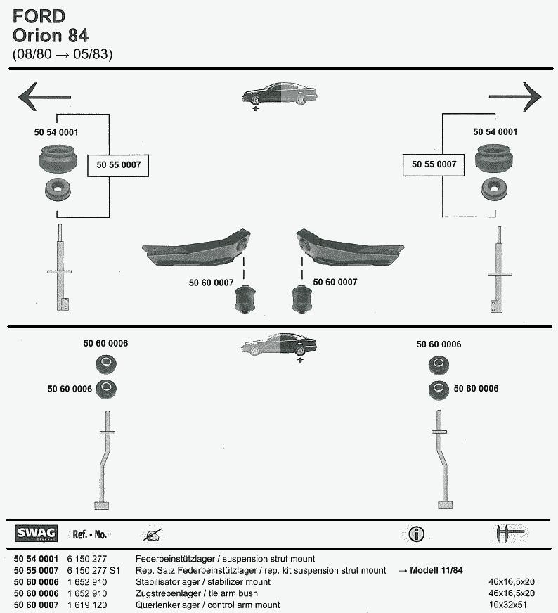 FORD Cougar 98 Escort 81 (1) Escort 81 (2) Escort 86 Escort 91